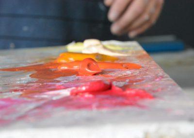 Peinture sur palette