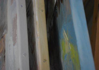 Châssis de peinture peint