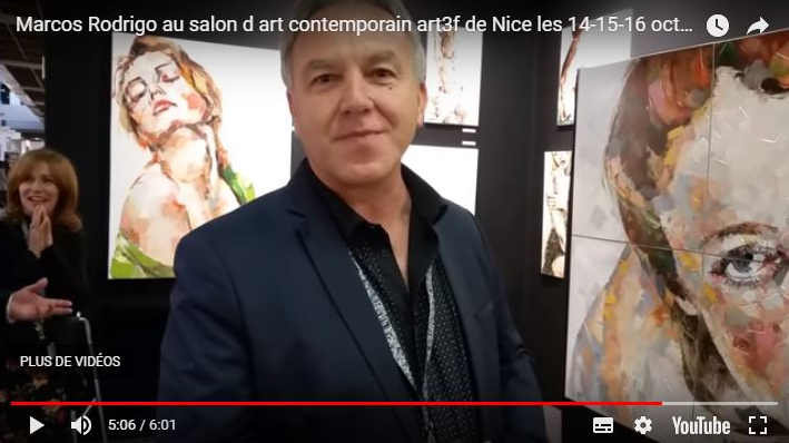 Marcos Rodrigo au salon d'art contemporain art3f de Nice les 14-15-16 octobre 2016