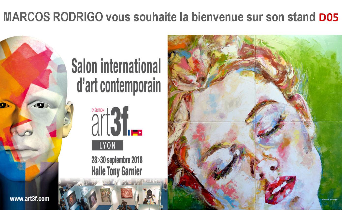 salon art3f lyon 2018 - marcos rodrigo - artiste peintre