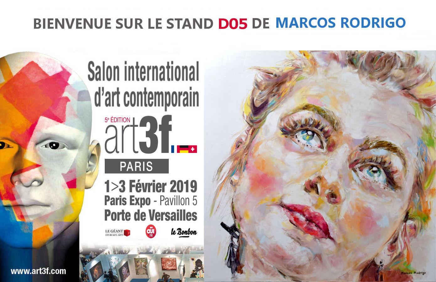 Salon art3f paris 2019 marcos rodrigo artiste peintre - Salon international d art contemporain toulouse ...