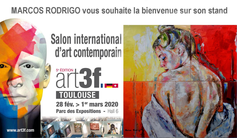 Artiste Peintre Contemporain Toulouse salon art3f toulouse 2020 - marcos rodrigo - artiste peintre
